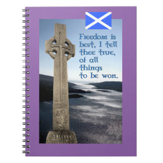 Scottish Independence Wallace Freedom Notebook
