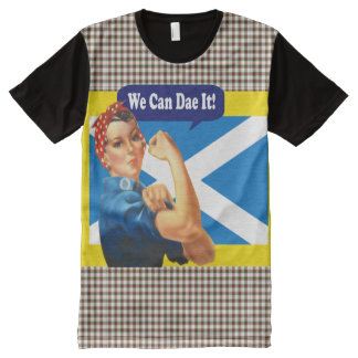Scottish Independence We Can Dae It Rosie Tee All-Over Print Shirt