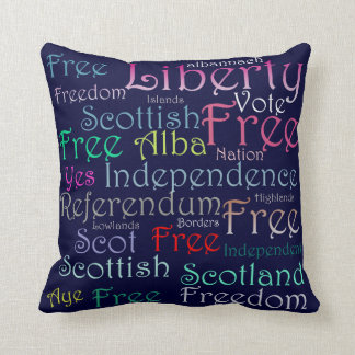 Scottish Independence Word Cushion Pillows