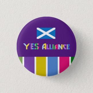 Scottish Independence Yes Alliance Badge Pinback Button