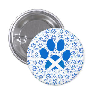 Scottish Independence Yes Cat Paw Print Badge Pinback Button