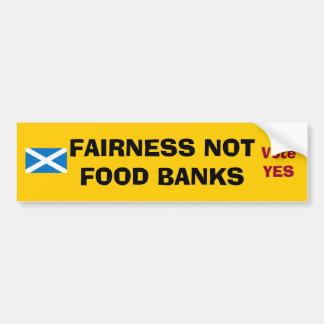 Scottish Indy Fairness Not Food Banks Tea Towel Car Bumper Sticker
