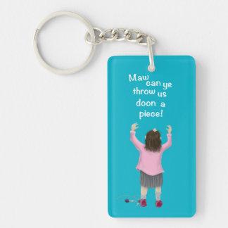 Scottish 'jeely piece' kid Single-Sided rectangular acrylic keychain