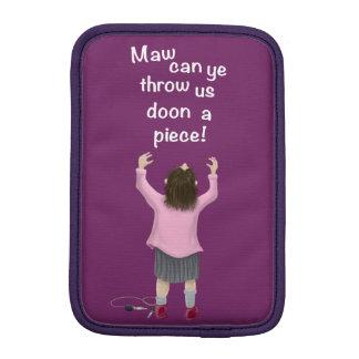 Scottish 'jeely piece' kid sleeve for iPad mini