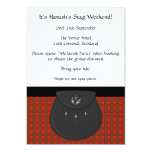 Scottish Kilt and Sporran Stag Weekend Party Custom Announcements