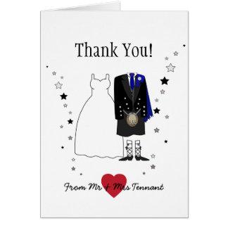 Scottish Kilt Bride & Groom Thank You Card