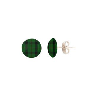 Scottish KincaidClan Tartan Plaid Pierced Earrings