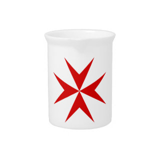 Scottish Knights Templar Cross Pitcher