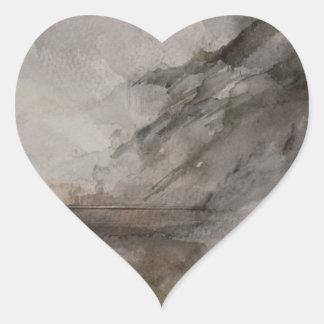 Scottish Landscape 1 Heart Sticker