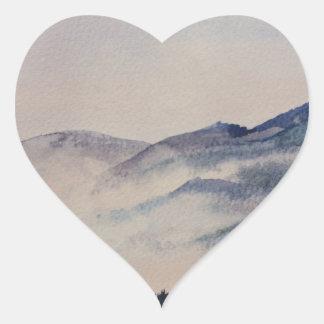Scottish Landscape 2 Heart Sticker