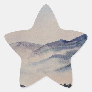 Scottish Landscape 2 Star Sticker