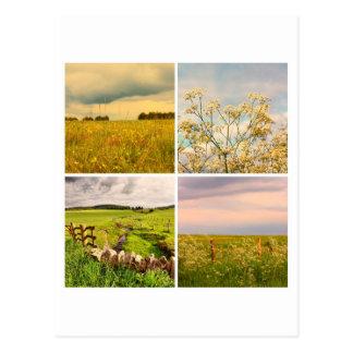 Scottish landscape collage postcard