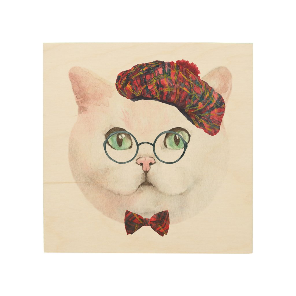 Scottish Lass Cat Wall Art