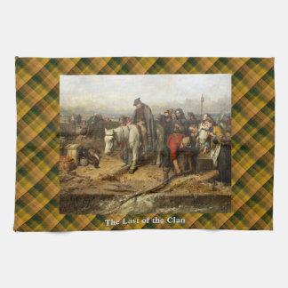 Scottish Last of the Clan Oil Painting Tea Towel