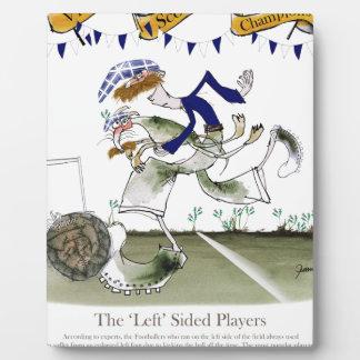 scottish left wing footballer plaque