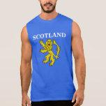 Scottish Lion Rampant Symbol Sleeveless T-Shirt