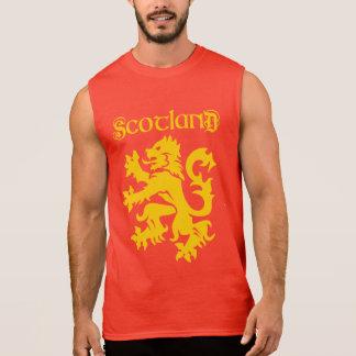 Scottish Lion Rampant Symbol Sleeveless Shirts