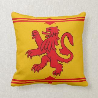 Scottish lion. throw pillow