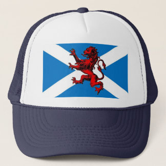 scottish lion trucker hat