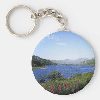 Scottish Loch Basic Round Button Keychain