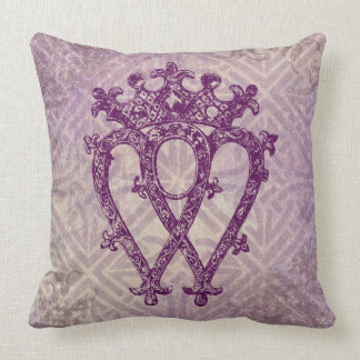 Scottish Luckenbooth Purple Celtic Knot Pillow