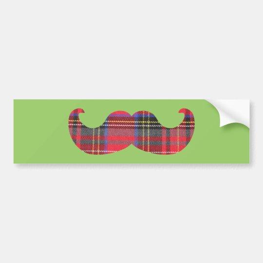 Scottish Mustache (or scottache moustache) Bumper Sticker
