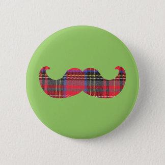 Scottish Mustache (or scottache moustache) Button