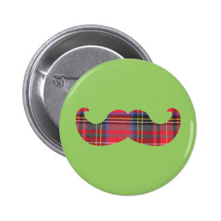 Scottish Mustache (or scottache moustache) Button