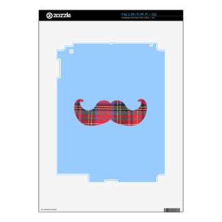 Scottish Mustache (or scottache moustache) Decal For iPad 2