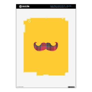 Scottish Mustache (or scottache moustache) iPad 3 Skin