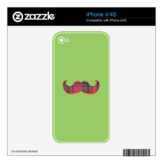 Scottish Mustache (or scottache moustache) Skins For The iPhone 4S