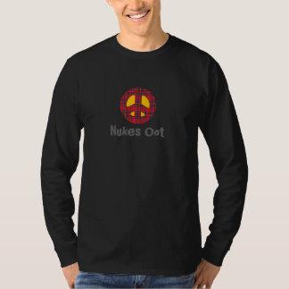 Scottish Nukes Oot Tartan Peace Symbol T-Shirt