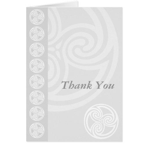 Scottish or Celtic Wedding Thank You Card Zazzle