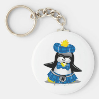 Scottish Penguin Blue Keychain
