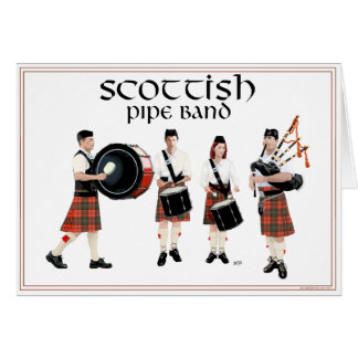 Scottish Pipe Band - Red Kilts Card