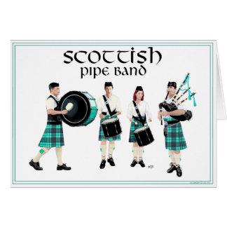 Scottish Pipe Band - Turquoise Kilts Card