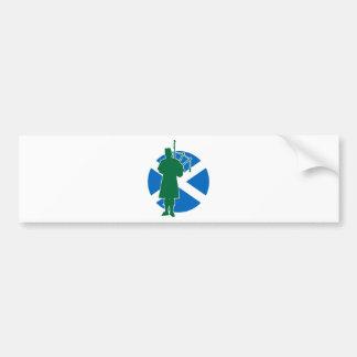 Scottish Piper Bumper Sticker