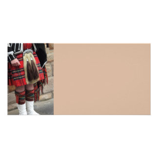 Scottish piper close up, traditional Scottish gift Card