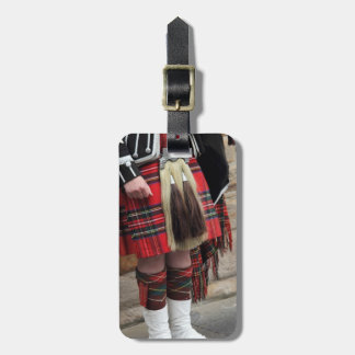 Scottish piper close up, traditional Scottish gift Luggage Tag