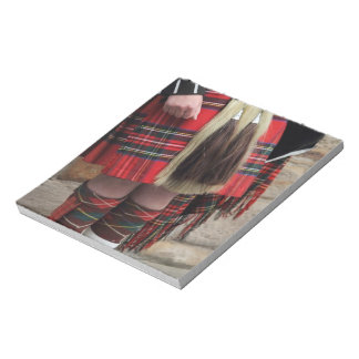 Scottish piper close up, traditional Scottish gift Notepad