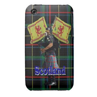 Scottish piper on tartan iPhone 3 cover