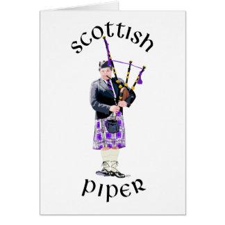 Scottish Piper - Purple Card