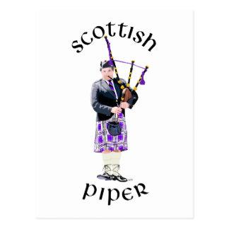 Scottish Piper - Purple Postcard