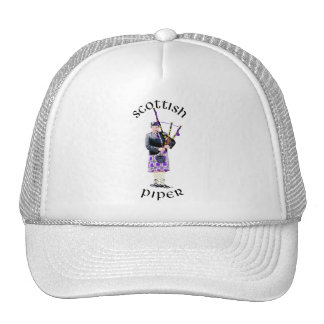 Scottish Piper - Purple Trucker Hat