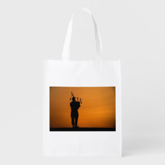 Scottish Piper Reusable Grocery Bags