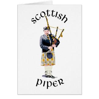 Scottish Piper - Tan Kilt Card
