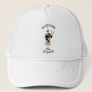 Scottish Piper - Tan Kilt Trucker Hat