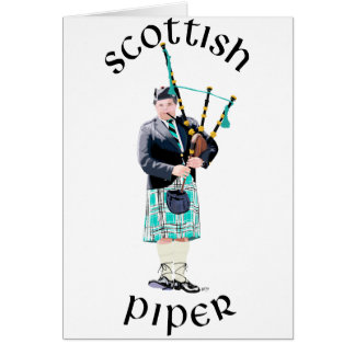 Scottish Piper - Turquoise Card