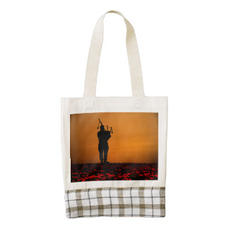 Scottish Piper Zazzle HEART Tote Bag