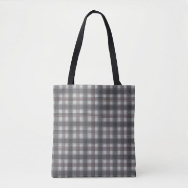 Beach Themed Scottish plaids grey tote bag